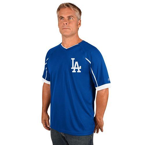 Men's Majestic Los Angeles Dodgers Emergance V-Neck Tee