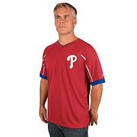 Men's Majestic Philadelphia Phillies Emergance V-Neck Tee