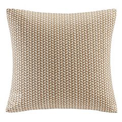 INK+IVY Tait Block Embroidered Throw Pillow
