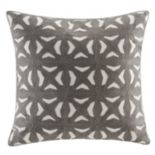 INK+IVY Nova Fret Embroidered Throw Pillow