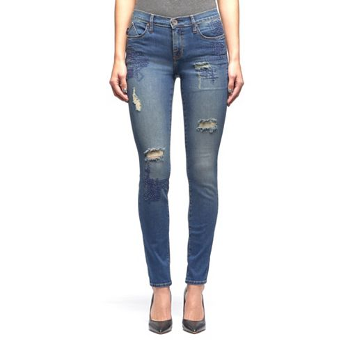 Women's Rock & Republic® Berlin Ripped Midrise Skinny Jeans