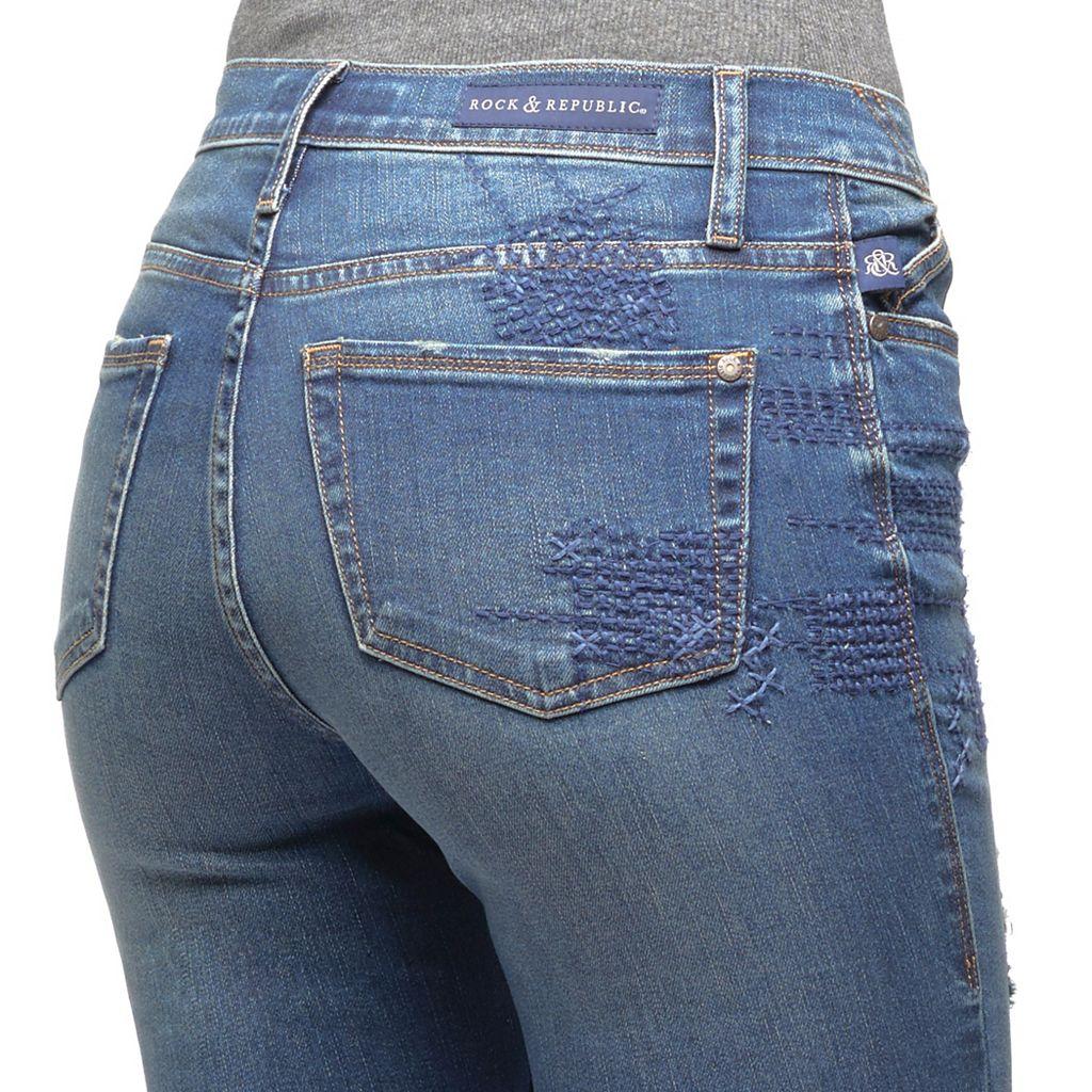 Women's Rock & Republic® Berlin Ripped Skinny Jeans