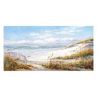 Beach Fence Canvas Wall Art