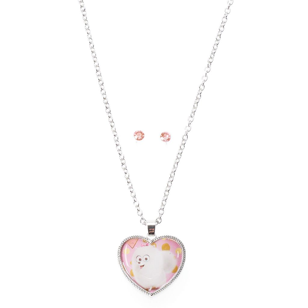 Girls 4-16 The Secret Life of Pets Gidget Necklace & Earrings Set