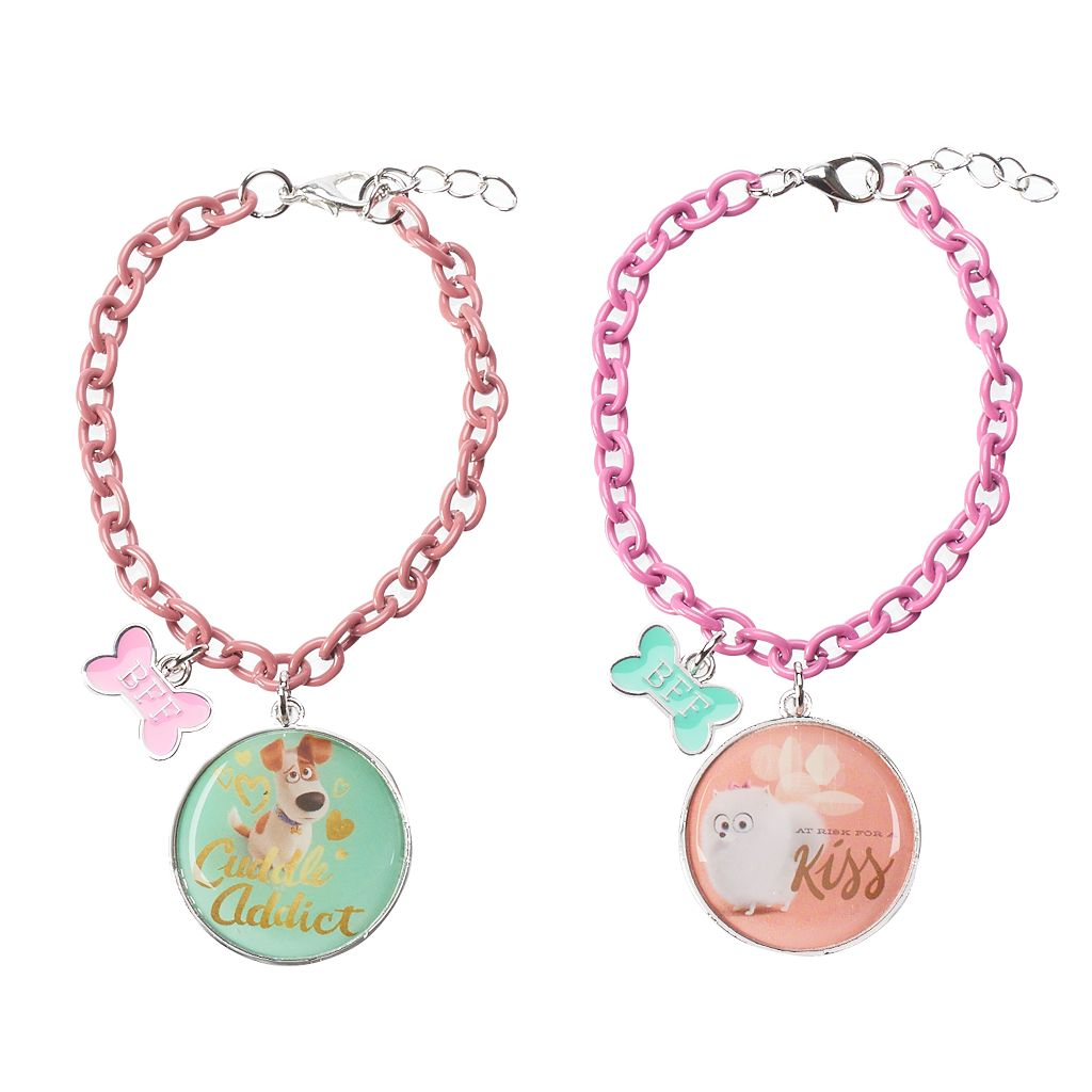 Girls 4-16 The Secret Life of Pets Gidget & Max 2-pc. Best Friends Bracelet Set