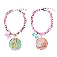 Girls 4-16 The Secret Life of Pets Gidget & Max 2-pc. Best Friends Bracelet Set