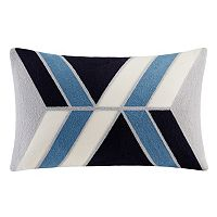 INK+IVY Aero Abstract Embroidered Oblong Throw Pillow