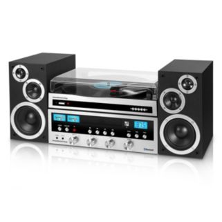 Innovative Technology Bluetooth CD Stereo with Record Player