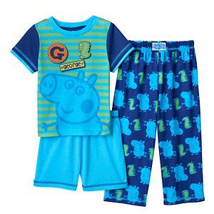 Toddler Boy Peppa Pig George 3-pc. Pajama Set