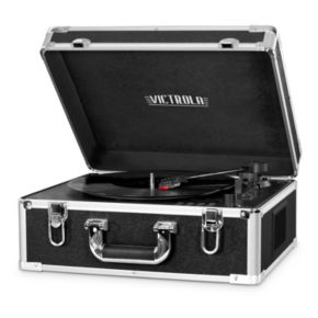 Victrola Full Size Suitcase Record Player with Bluetooth