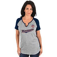 Women's Majestic Minnesota Twins From the Stretch Tee