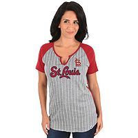 Women's Majestic St. Louis Cardinals From the Stretch Tee