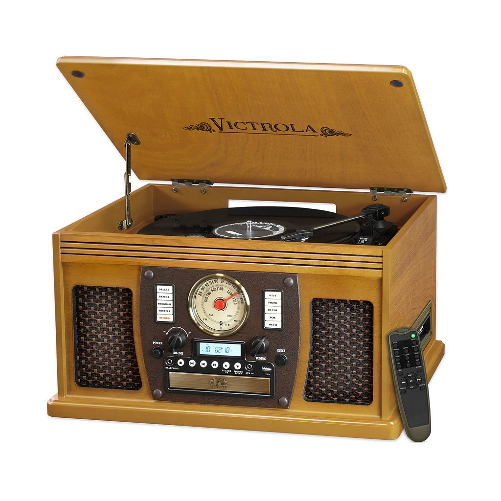 Victrola 8-in-1 Bluetooth Record Player with USB Recording