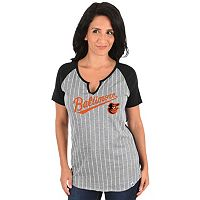 Women's Majestic Baltimore Orioles From the Stretch Tee