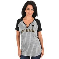 Women's Majestic Pittsburgh Pirates From the Stretch Tee