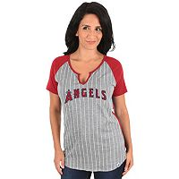 Women's Majestic Los Angeles Angels of Anaheim From the Stretch Tee