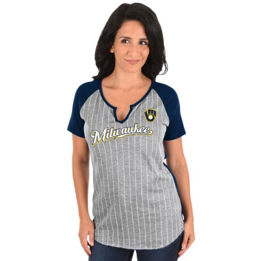 Women's Majestic Milwaukee Brewers From the Stretch Tee