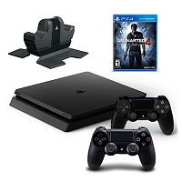 PlayStation 4 500GB Uncharted 4: A Thief's End Bundle with Controllers & Charging Dock