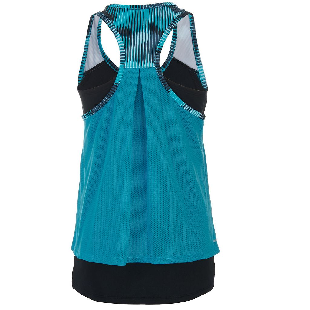 Girls 7-16 adidas climalite Mock-Layered Tank Top