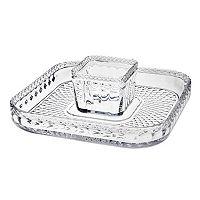 Godinger Belmont Crystal Chip & Dip Tray