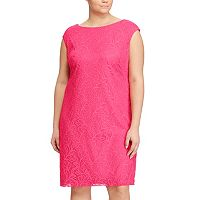 Plus Size Chaps Lace Jacquard Shift Dress