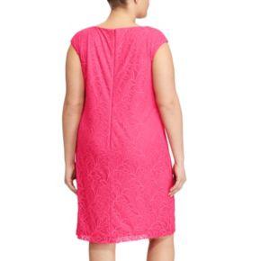 Plus Size Chaps Lace Jacquard Shift Dress