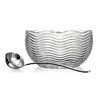 Godinger Capri Crystal Punch Bowl with Ladle