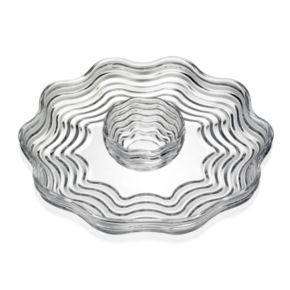 Godinger Capri Crystal Chip & Dip Tray