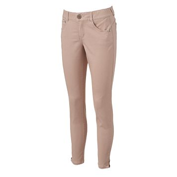 Women's Artisan Crafted by Democracy Pink Zip-Ankle Jeggings