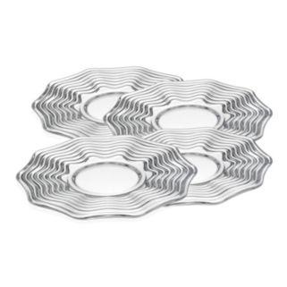 Godinger Capri 4-pc. Crystal Dessert Plate Set
