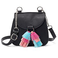 Candie's® Cici Flap Saddle Bag