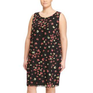 Plus Size Chaps Floral Shift Dress