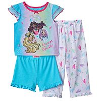Toddler Girl Barbie 3-pc. Pajama Set