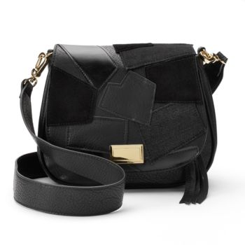 Juicy Couture Patchwork Flap Saddle Bag