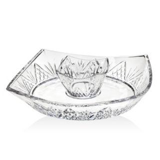 Godinger Dublin Crystal Chip & Dip Tray