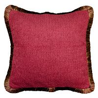 Spencer Home Decor Chenille Fringe Solid Throw Pillow