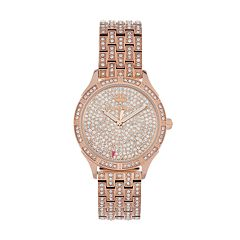 Juicy Couture Women's Arianna Crystal Stainless Steel Watch