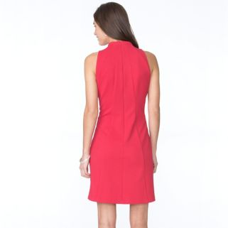 Petite Chaps Jacquard Sheath Dress