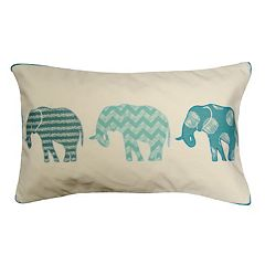Spencer Home Decor Elephants in a Row Oblong Throw Pillow
