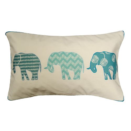 Spencer Home Decor Elephants in a Row Oblong Throw Pillow