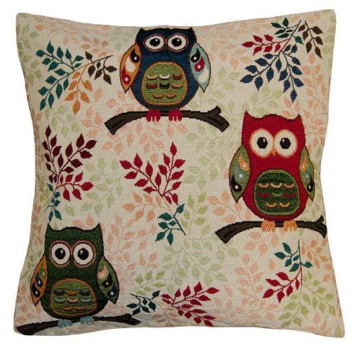 Spencer Home Decor Fair Owls Throw Pillow