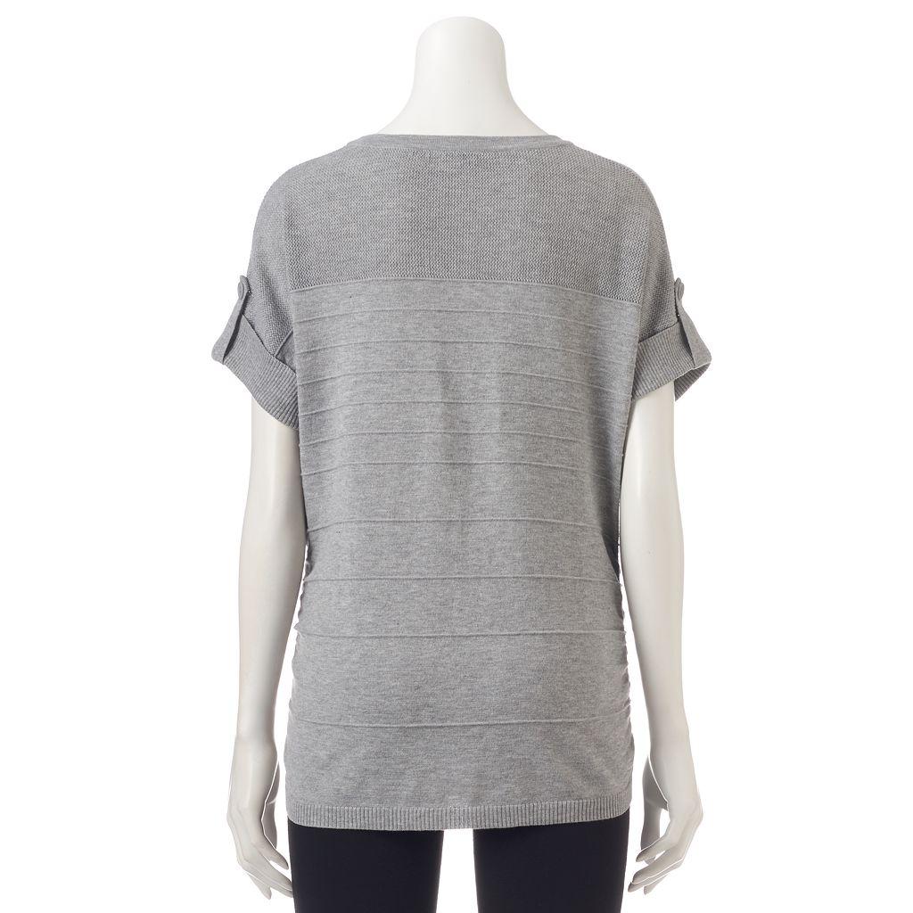 Women's Apt. 9® Ruched Crewneck Sweater