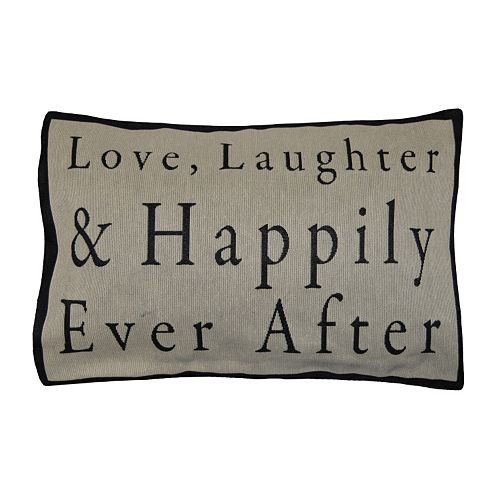 Spencer Home Decor ''Happily Ever After'' Oblong Throw Pillow