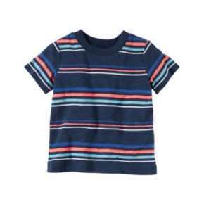 Baby Boy Carter's Striped Tee & Embroidered Shortalls Set