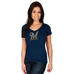 Women's Majestic Milwaukee Brewers Dream of Diamonds Tee