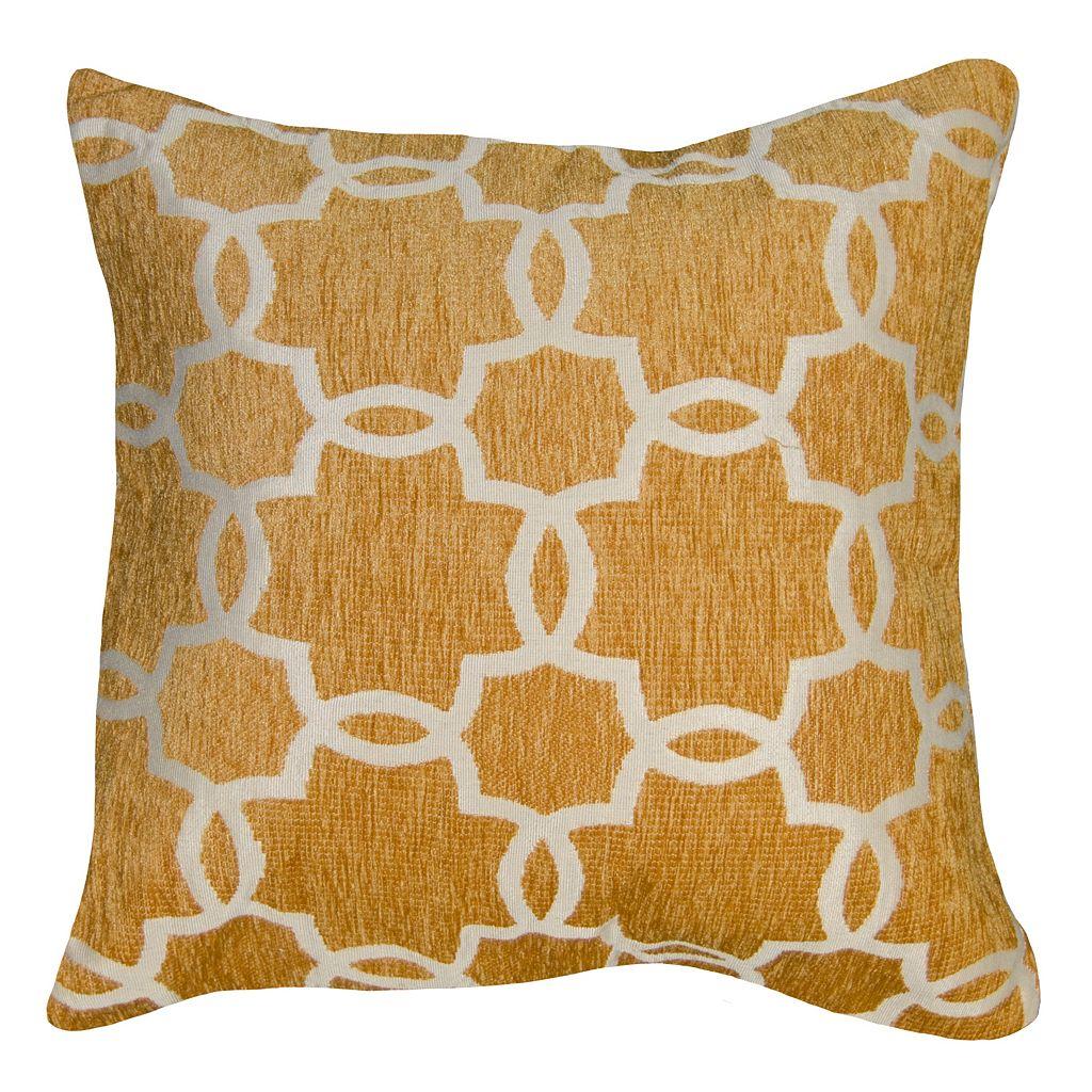 Spencer Home Decor Linked Tile Lattice Chenille Throw Pillow