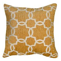 Spencer Home Decor Linked Tile Lattice Chenille Throw Pillow
