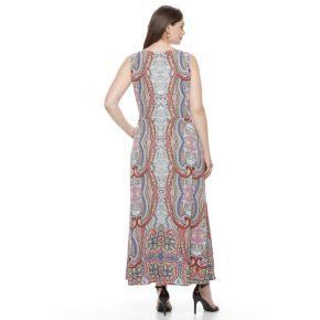 Plus Size Suite 7 Sleeveless Blouson Maxi Dress