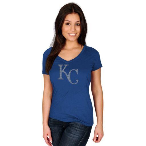 Women's Majestic Kansas City Royals Dream of Diamonds Tee