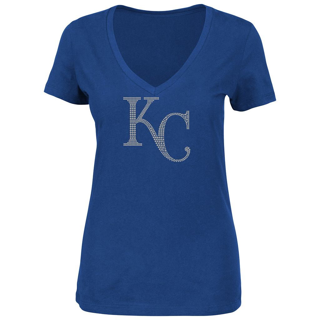 Women's Majestic Kansas City Royals Dream of Diamonds Tee